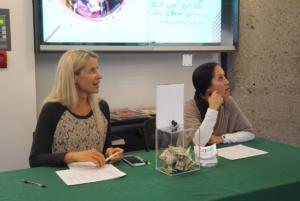 COSF Director Kira Krukowski and past Director Tasha Spangler at the sign-in table.